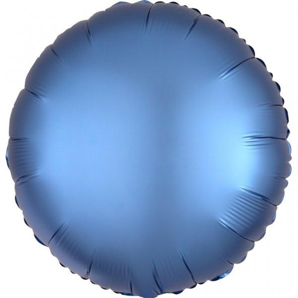 Ballon aluminium bleu brillant 43cm