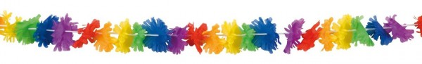 Guirnalda de flores de arco iris de Hawaii