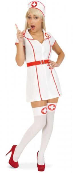 Knappes Caro Krankenschwester Kostüm 1