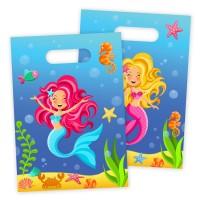 8 Partytüten Niedliche Meerjungfrau