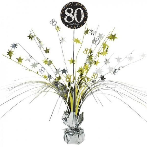 80. Geburtstag Sternenzauber Tischdeko 46cm