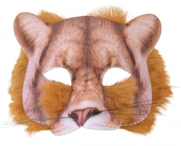 Löwenmaske Mit Fellbesatz