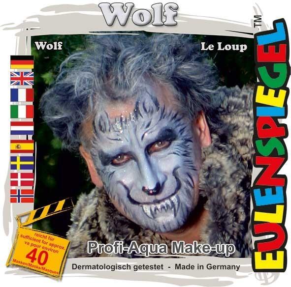 Wolf Schminkset 4 Farben