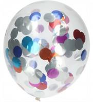 Ballon 4er Set mit buntem Konfetti  30cm