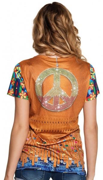 Camicia da donna hippie anni '70
