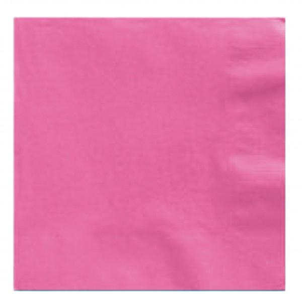 50 servietter Mila pink 33 cm