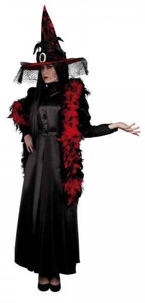 Federboa Elegance Rot-Schwarz