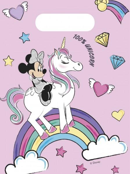 6 Minnie Mouse Einhorn Geschenktüten