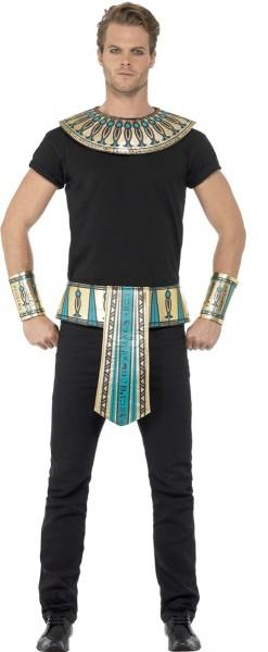 Ägyptisches Set Türkis-Gold 4-teilig