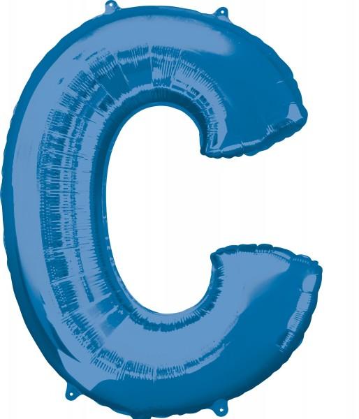 Foil balloon letter C blue XL 81cm