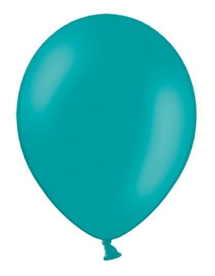 100 Latexballons Pastel Türkis 25cm