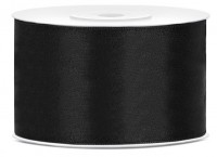 25m satin ribbon black 35mm wide