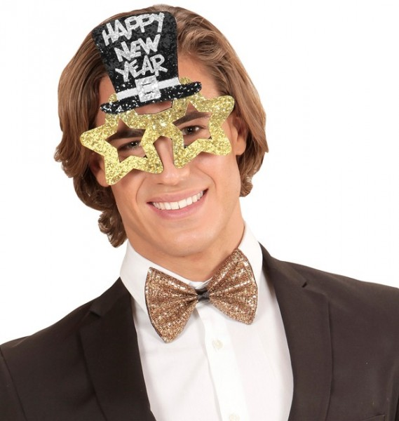 Happy New Year Goldstar Party Brille