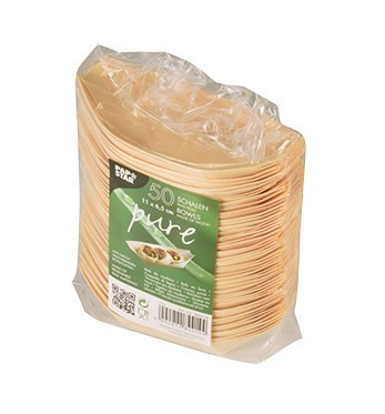 50 scodelle in legno fingerfood 11 x 6,5 cm