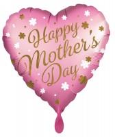 Happy Mothers Day Herz Folienballon 45cm