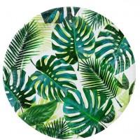 8 Tropical Party Pappteller 23cm