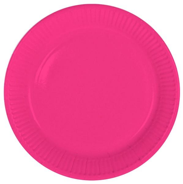 8 Pappteller Cleo pink 23cm