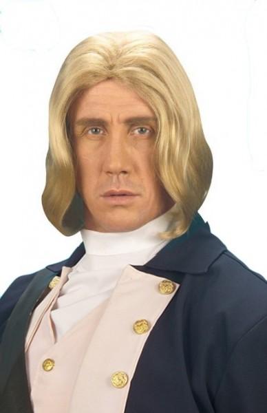 Blonde Historische Admiral Herrenperücke