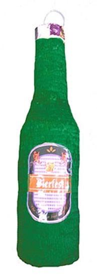 Groene bierfles Pinata