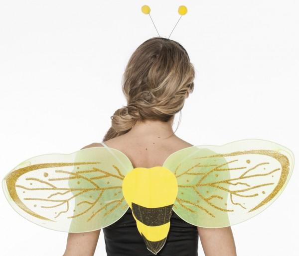 Summende Glitzer-Biene 2-teiliges Set