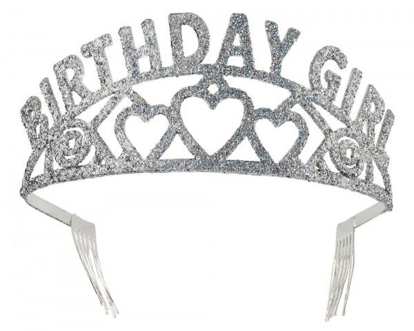 Glitzer Birthday Girl Krone