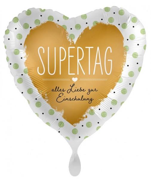 Supertag Einschulung Herzballon 43cm