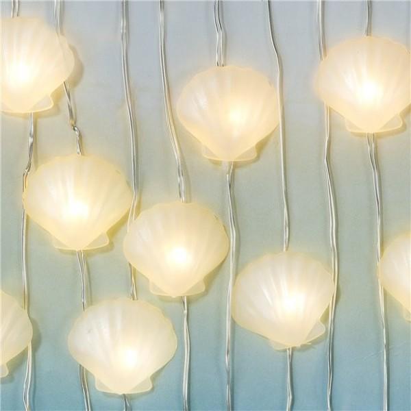 Muschel LED-Lichterkette 3m