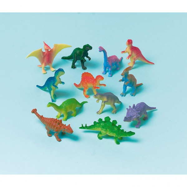 12 dinosaur figures prehistoric giants 6cm