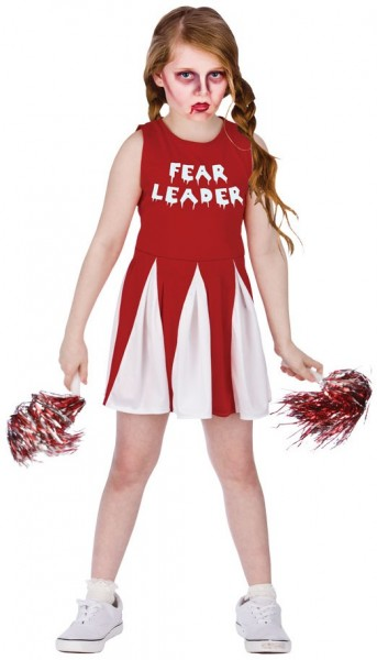 Zombie Cheerleader Mädchen Kinderkostüm