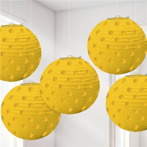 5 yellow dots Chinese lanterns Parada 12cm