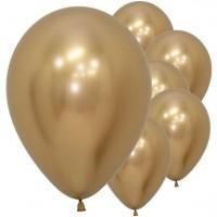 50 Goldene metallic Ballons Samba 30cm