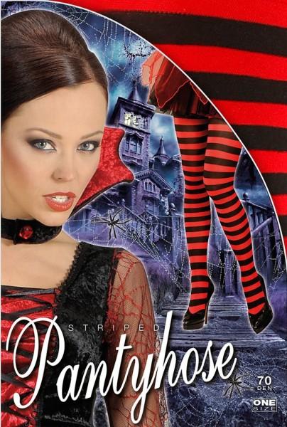 Medias rizadas negras y rojas