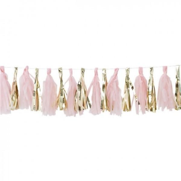 Oh baby tassel garland pink-gold
