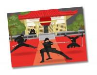 6 Ninja Party Tischsets