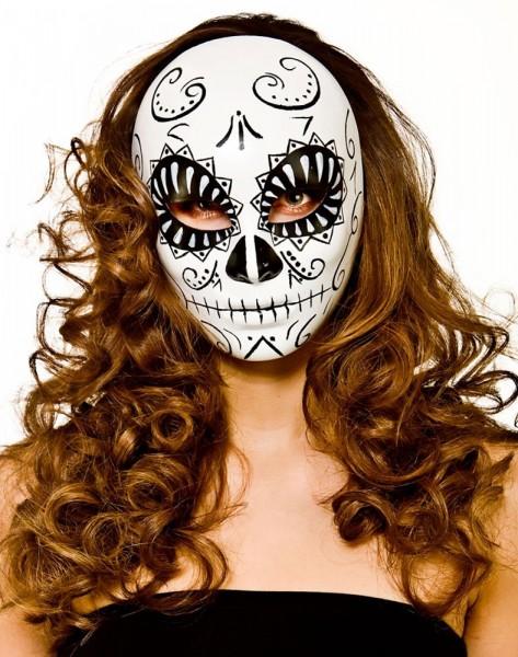 Dødens maske sort og hvid