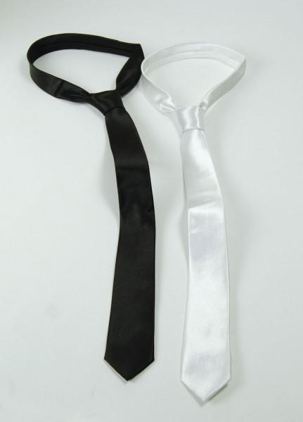 Edle Satin Krawatte in 2 Farben