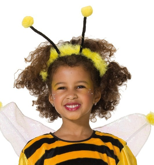 Diadema de pelo para niños con antenas de abeja