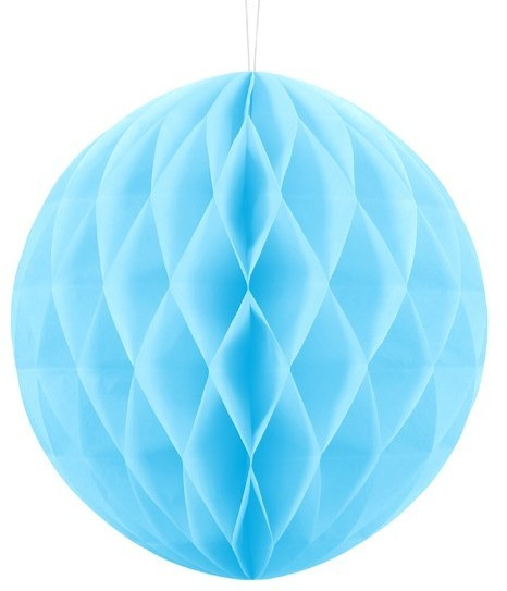 Honeycomb ball Lumina azure blue 30cm