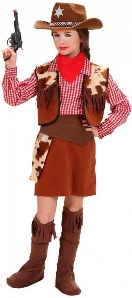 6-Teiliges Cowgirl Kostüm Für Mädchen