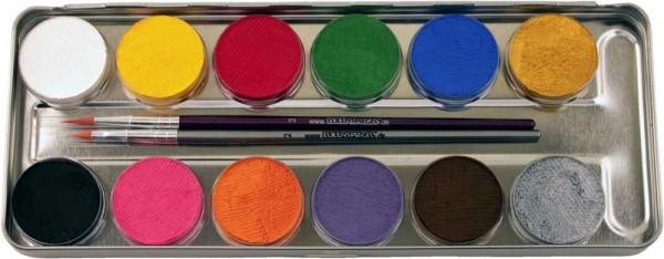Schminkset Mit Pinsel 12 Farben In Palette