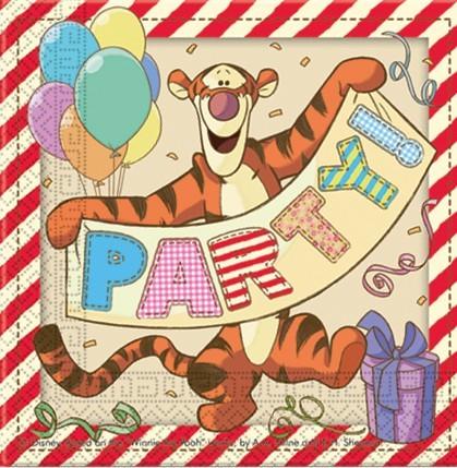20 Party Winnie Puuh Servietten 33cm