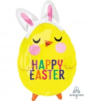 Folienballon Happy Easter Küken