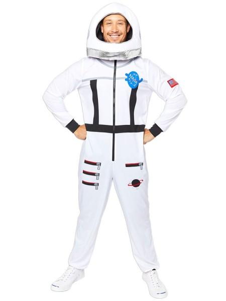 Weltraum Astronaut Herrenkostüm weiß