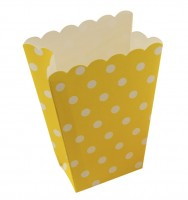 Punkte Spaß Gelbe Popcorn Snacktüte 8er Set