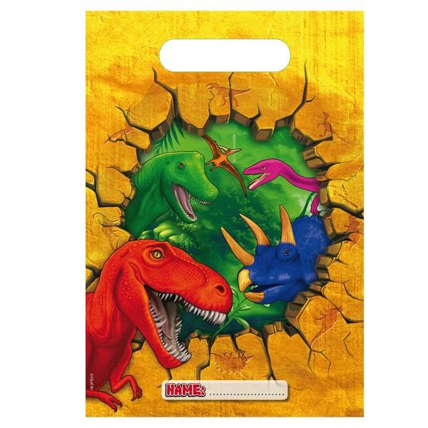6 borse regalo Dino Party