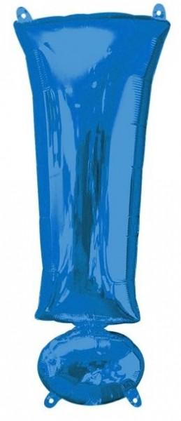 Blauer Ausrufezeichen Folienballon 41cm