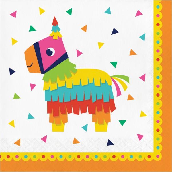 16 Rainbow Fiesta Servietten 33cm