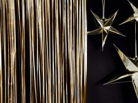 Lametta Vorhang gold 2,5m x 90cm