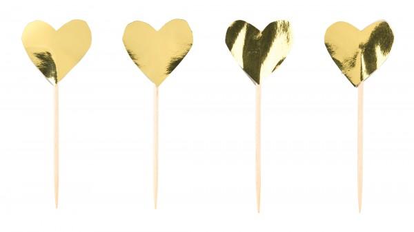 24 Little love Herz Spieße 6,5cm