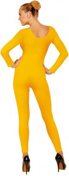 Body manches longues pour femme jaune